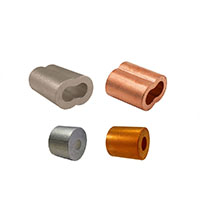 3//8 inch Oval Duplex Wire Rope Cable Crimping Loop Fittings Pack of 5 Swage Right MIL-SPEC Tin Plated Copper Swage Sleeves Clip /& Ferrules